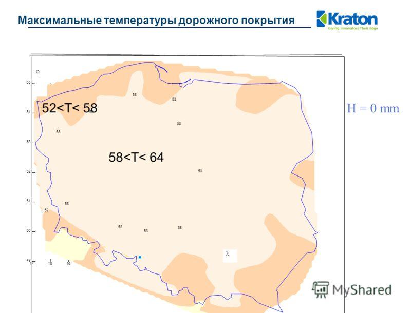 Максимальные температуры дорожного покрытия 141516171819202122232425 49 50 51 52 53 54 55 58 52 58