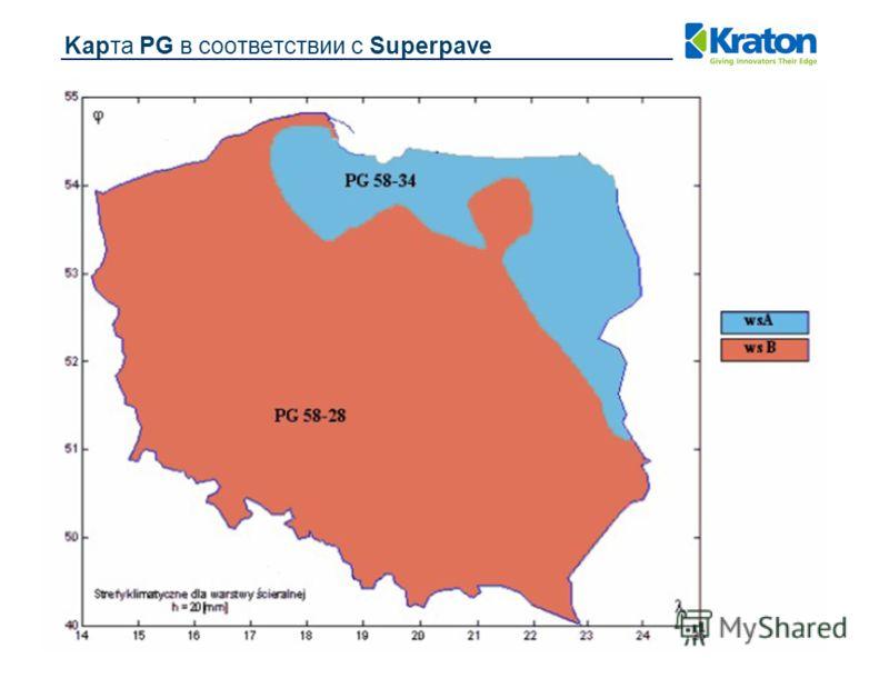 Kapта PG в соответствии с Superpave
