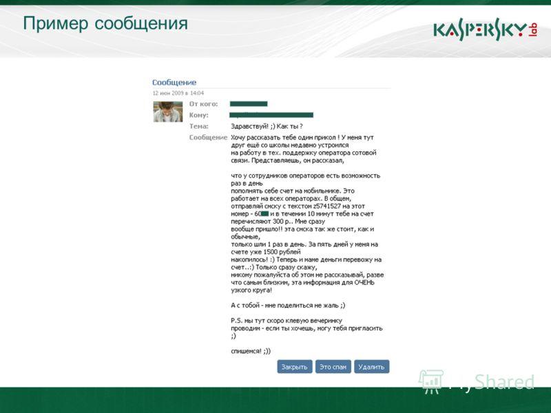 23.04.2010 Москва Пример сообщения