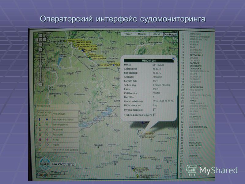 Операторский интерфейс судомониторинга