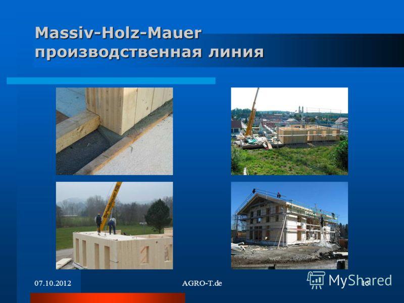 21.08.2012AGRO-T.de15 Massiv-Holz-Mauer производственная линия