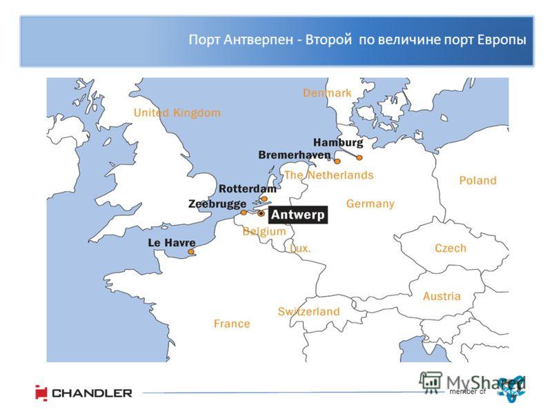 Порт Антверпен - Второй по величине порт Европы member of