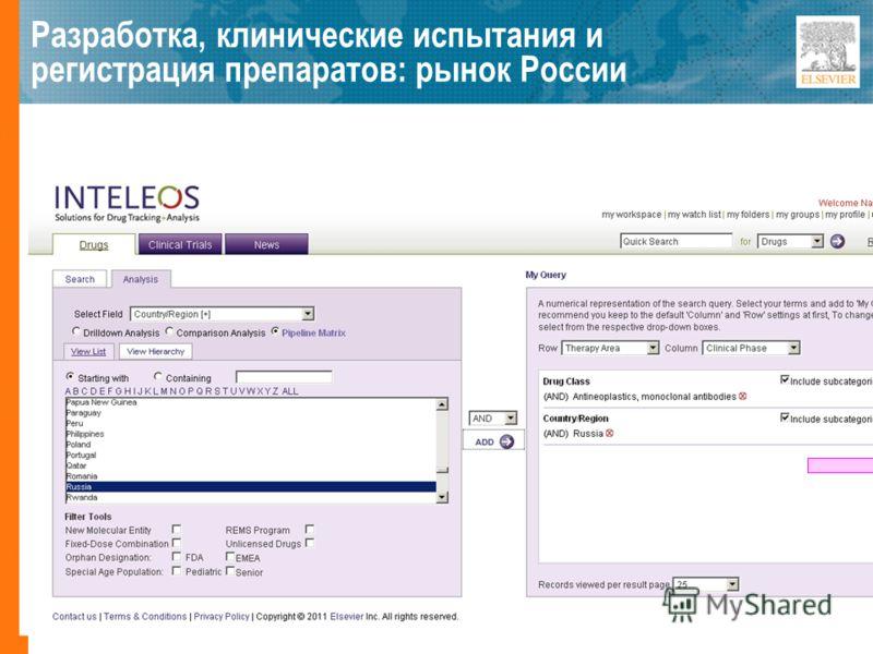 Разработка, клинические испытания и регистрация препаратов: рынок России