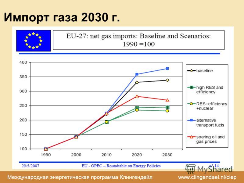 Международная энергетическая программа Клингендейл www.clingendael.nl/ciep Импорт газа 2030 г.