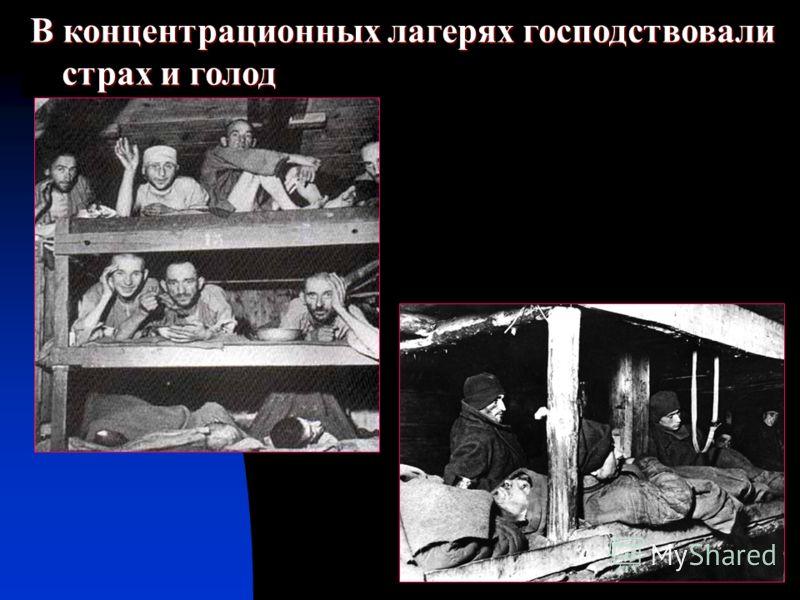 В концентрационных лагерях господствовали страх и голод