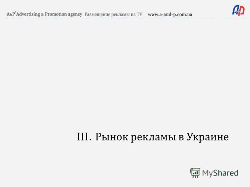 III. Рынок рекламы в Украине