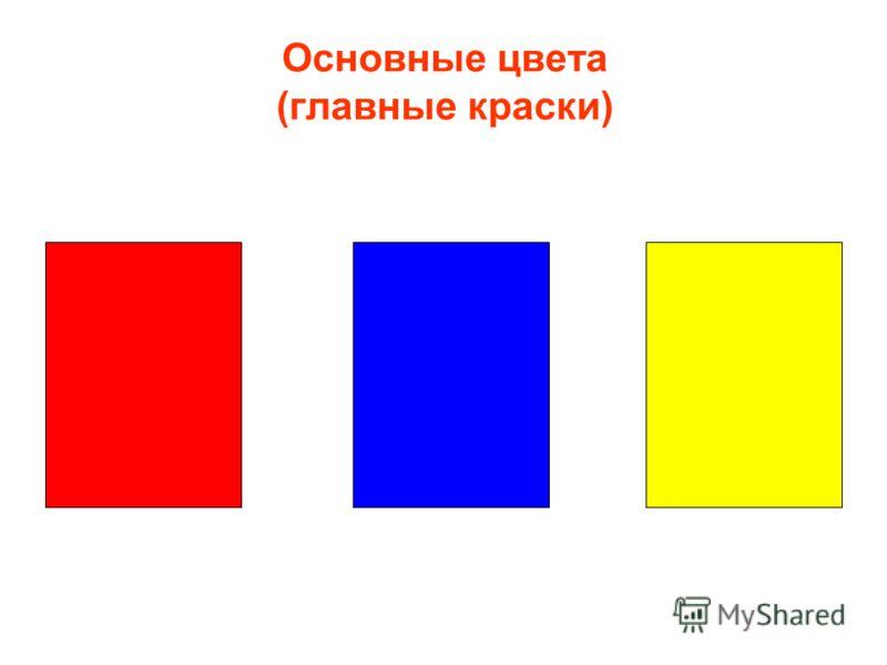 Основные цвета (главные краски)