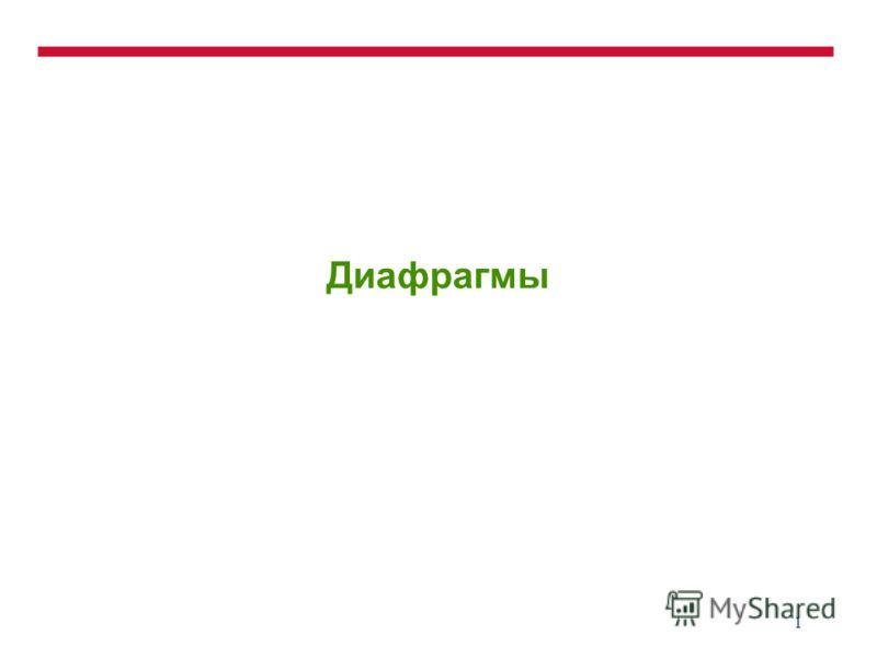 1 Диафрагмы