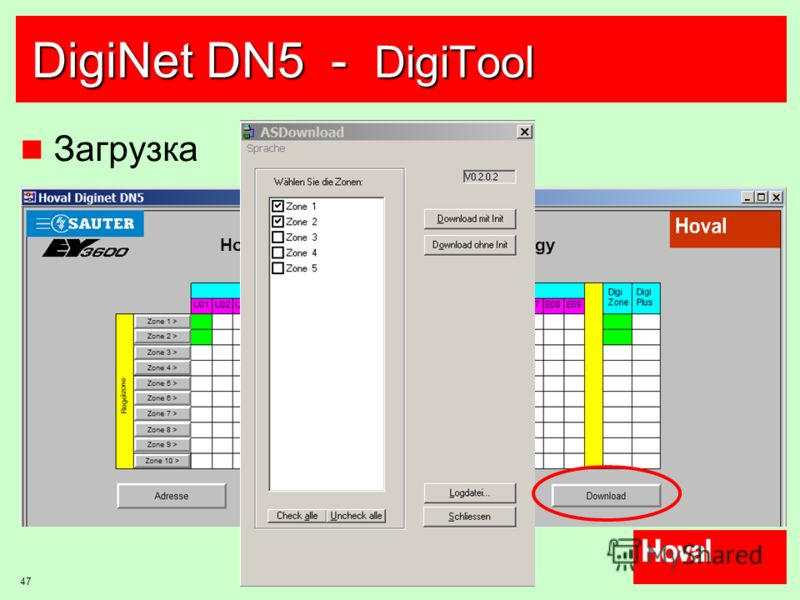 47 DigiNet DN5 - DigiTool Загрузка Hoval DigiNet DN5 - Network Topology