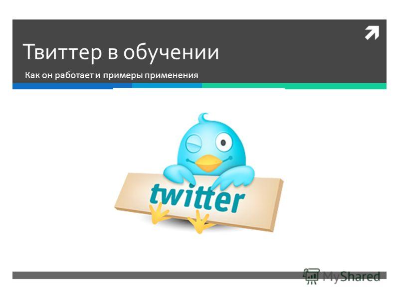 Твиттер в обучении Как он работает и примеры применения