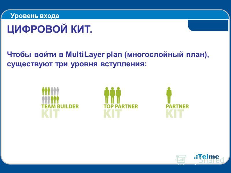Уровень входа ЦИФРОВОЙ КИТ. Чтобы войти в MultiLayer plan (многослойный план), существуют три уровня вступления: