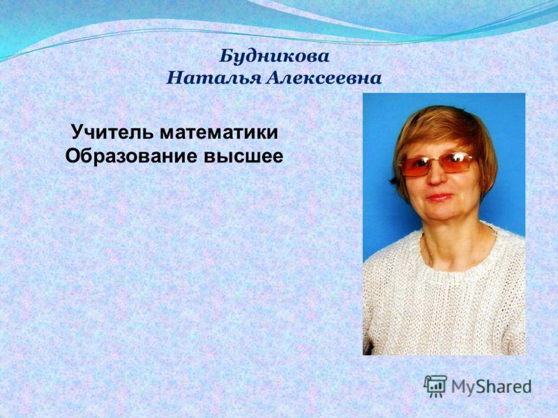 Муравьёва Галина Алексеевна Учитель математики 1 категория Образование высшее