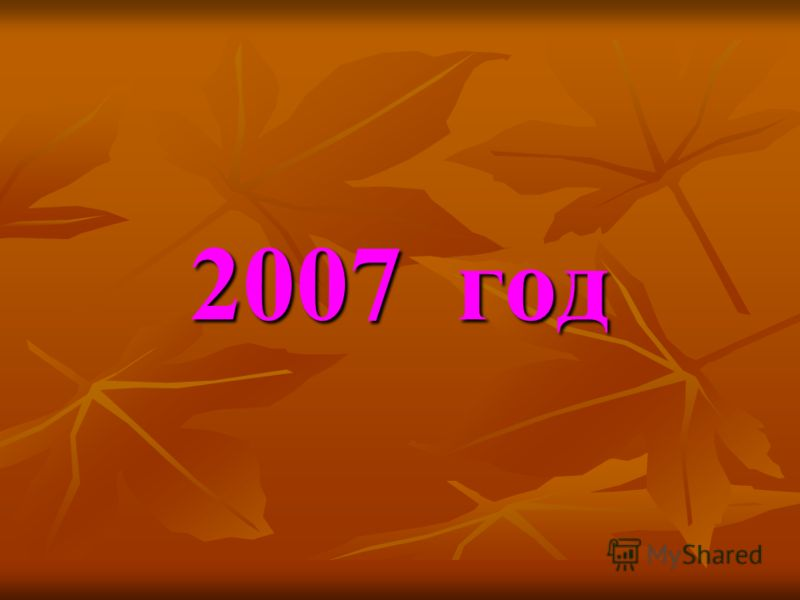 2007 год