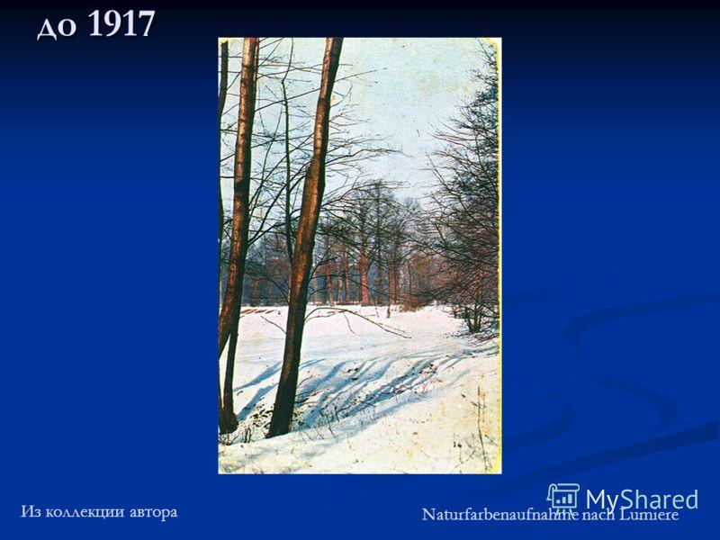 до 1917 Из коллекции автора Naturfarbenaufnahme nach Lumiere