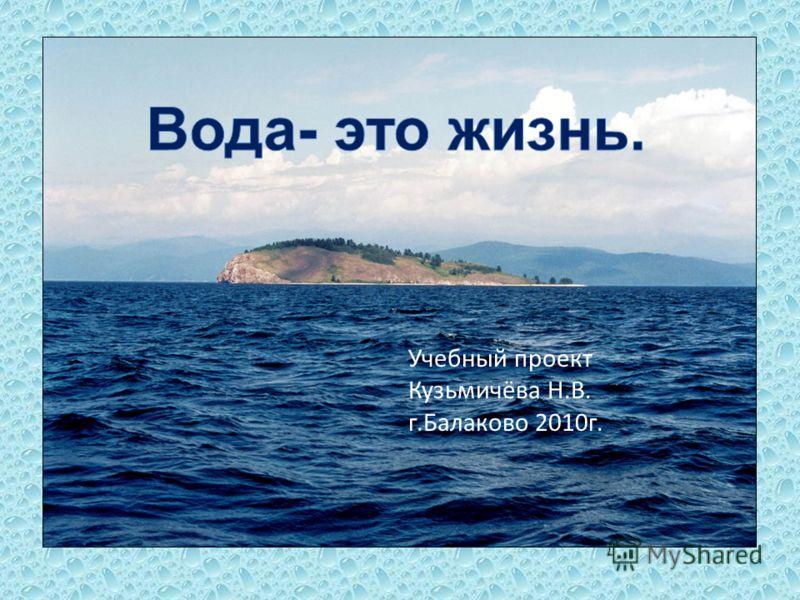Учебный проект Кузьмичёва Н.В. г.Балаково 2010г.