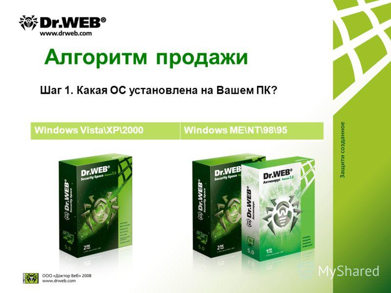 Алгоритм продажи Windows Vista\XP\2000Windows ME\NT\98\95 Шаг 1. Какая ОС установлена на Вашем ПК?