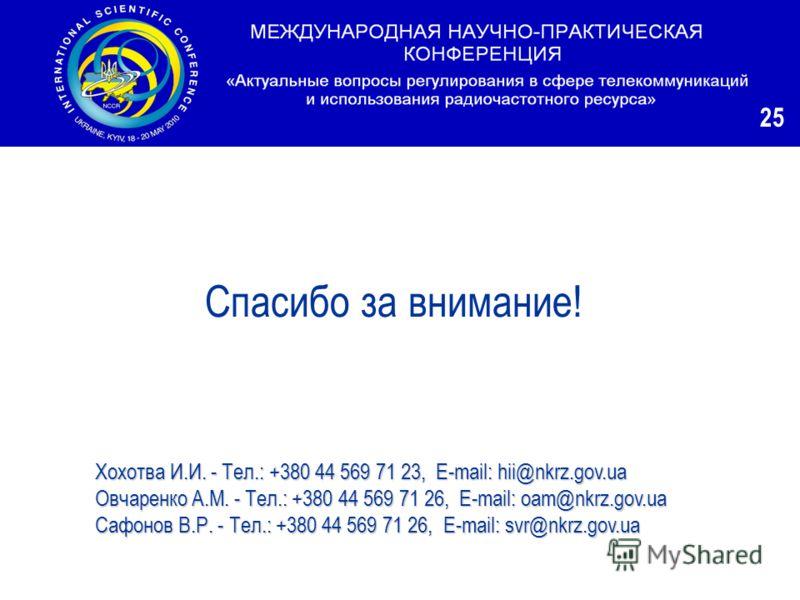 Хохотва И.И. - Тел.: +380 44 569 71 23, E-mail: hii@nkrz.gov.ua Овчаренко А.М. - Тел.: +380 44 569 71 26, E-mail: oam@nkrz.gov.ua Сафонов В.Р.-Тел.: +380 44 569 71 26, E-mail: svr@nkrz.gov.ua Сафонов В.Р. - Тел.: +380 44 569 71 26, E-mail: svr@nkrz.g