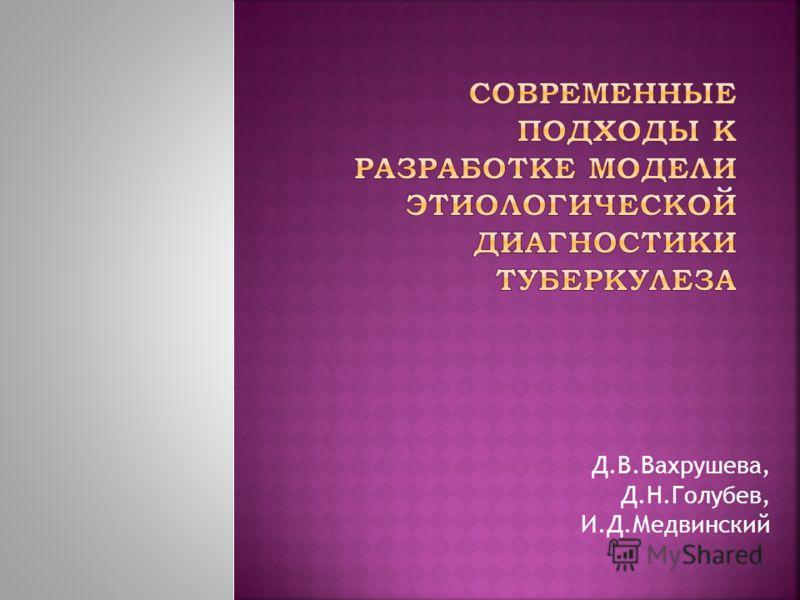 Д.В.Вахрушева, Д.Н.Голубев, И.Д.Медвинский