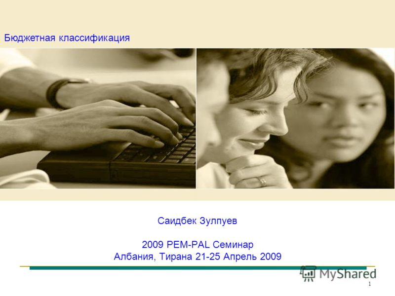1 Саидбек Зулпуев 2009 PEM-PAL Семинар Албания, Тирана 21-25 Апрель 2009 Бюджетная классификация
