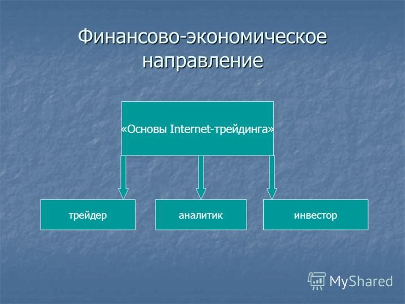 Финансово-экономическое направление «Основы Internet-трейдинга» инвестораналитиктрейдер
