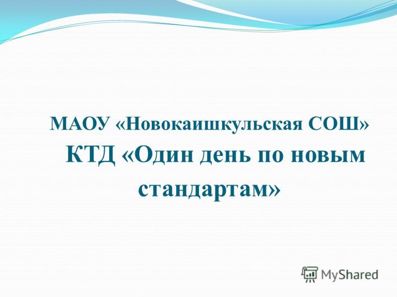 МАОУ «Новокаишкульская СОШ» КТД «Один день по новым стандартам»