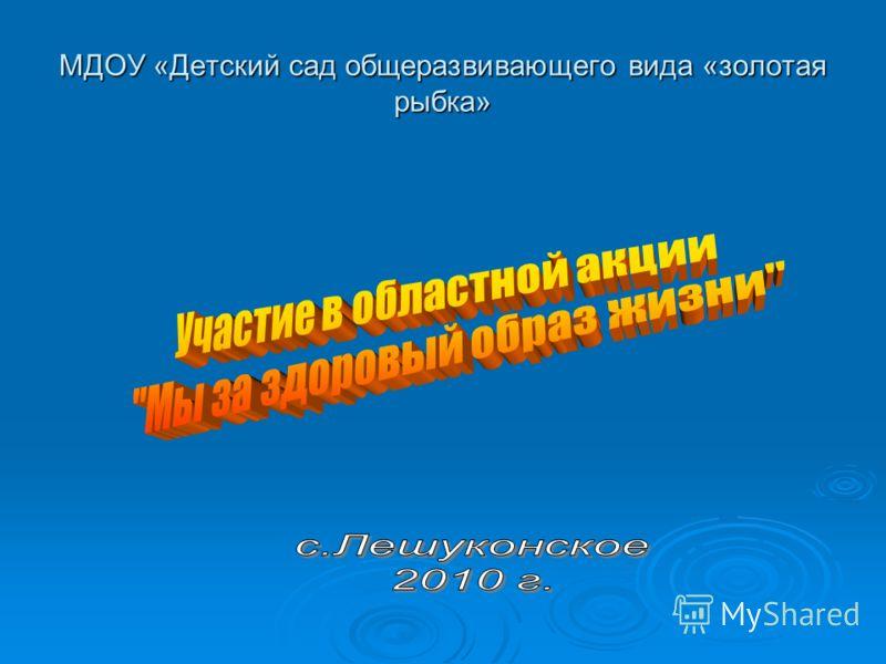 МДОУ «Детский сад общеразвивающего вида «золотая рыбка»