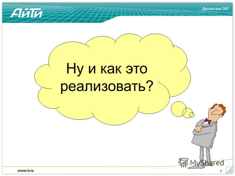 Диалектика ЭАР www.it.ru 6 Ну и как это реализовать?