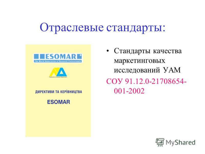 Данные об исследовательских компаниях можно найти на сайте УАМ и в «Щорічніку УАМ Сайт http://uam.iatp.org.ua http://uam.iatp.org.ua http://www.kneu.kiev.ua Щорічник: Маркетинговые исследовательские компании Выставочные компании Консалтинговые компан