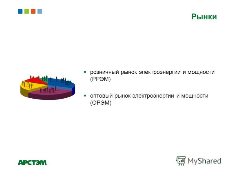 Рынки розничный рынок электроэнергии и мощности (РРЭМ) оптовый рынок электроэнергии и мощности (ОРЭМ)