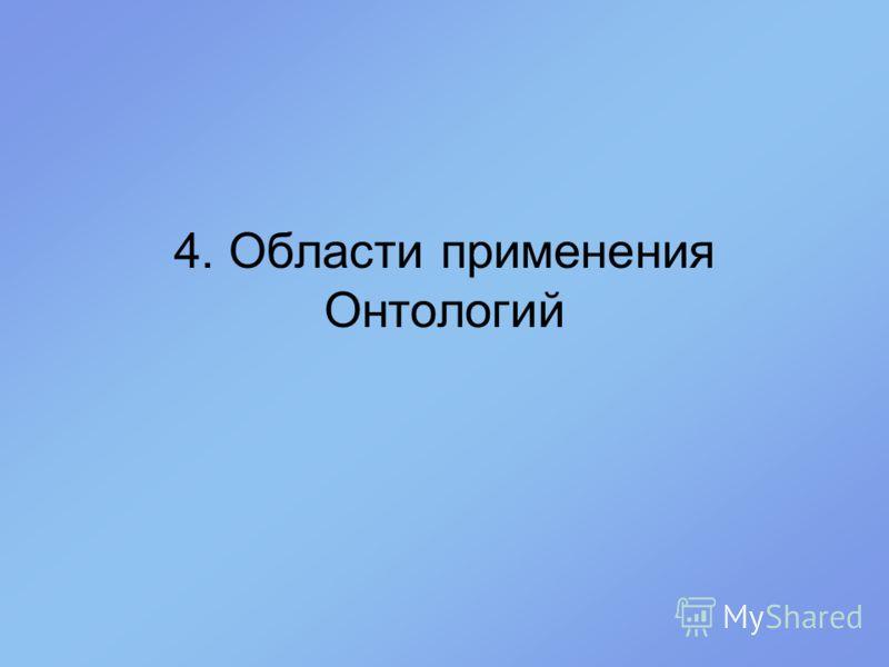 4. Области применения Онтологий