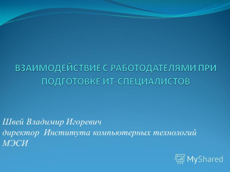 Швей Владимир Игоревич директор Института компьютерных технологий МЭСИ