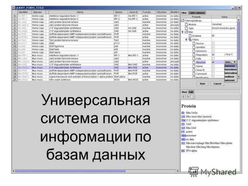 Универсальная система поиска информации по базам данных