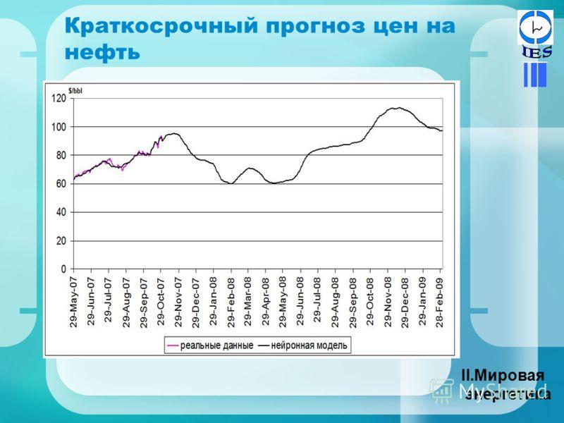 Краткосрочный прогноз цен на нефть II.Мировая энергетика