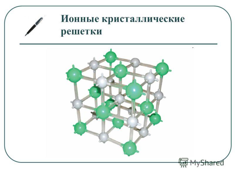 Ионные кристаллические решетки