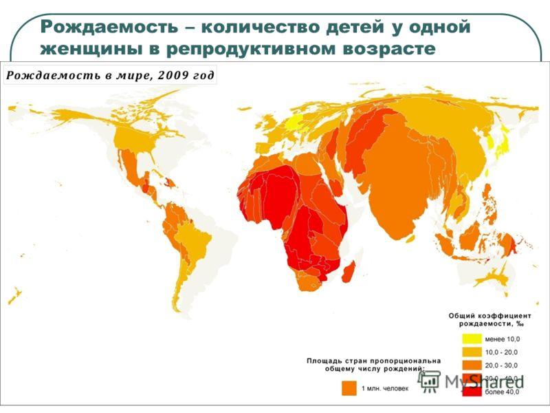 Рождаемость – количество детей у одной женщины в репродуктивном возрасте