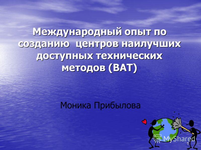 1 Моника Прибылова Международный опыт по созданию центров наилучших доступных технических методов (BAT)