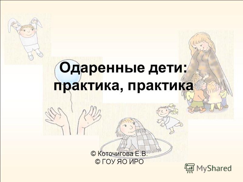 Одаренные дети: практика, практика © Коточигова Е.В. © ГОУ ЯО ИРО