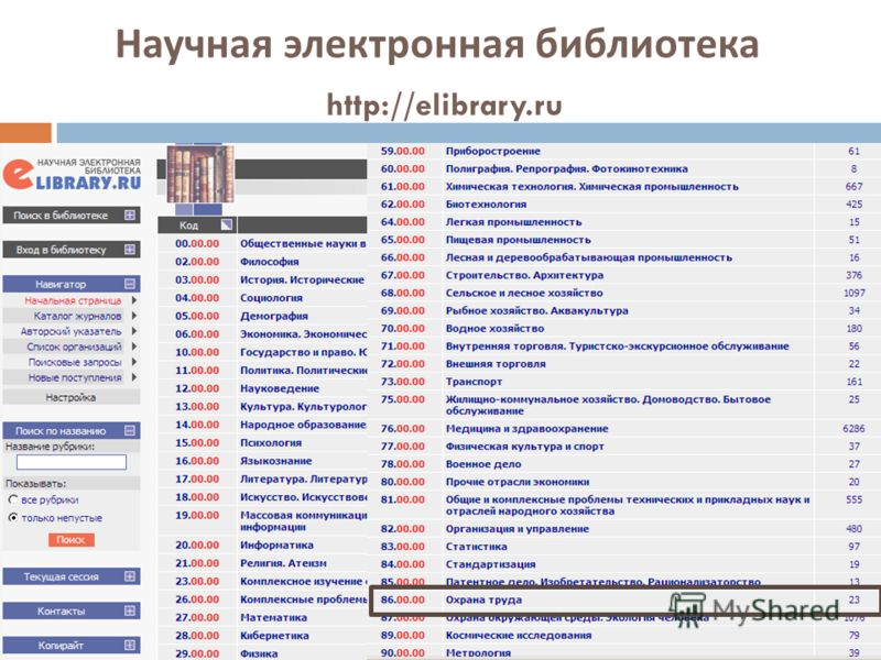 Научная электронная библиотека http://elibrary.ru