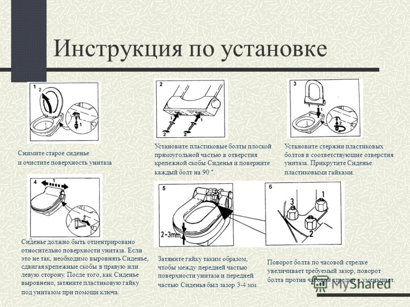 Унитаз инструкция по установке