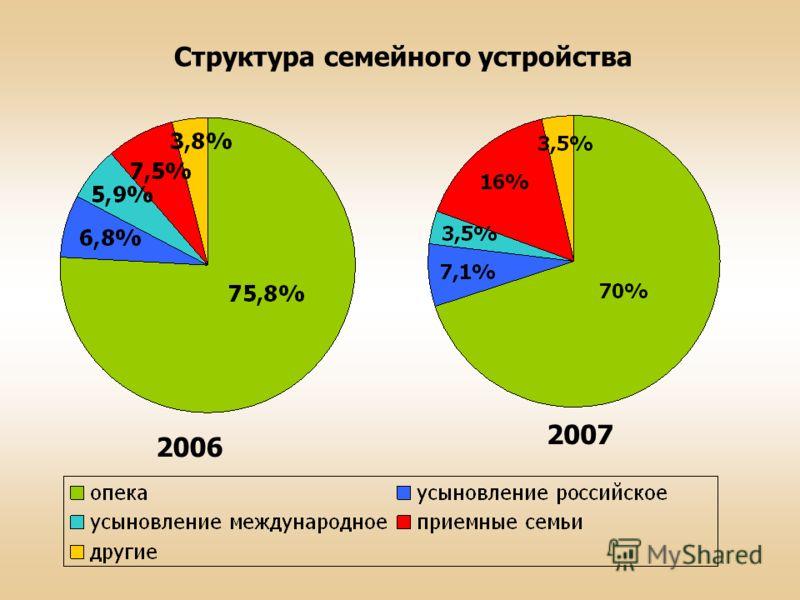 Структура семейного устройства 2006 2007