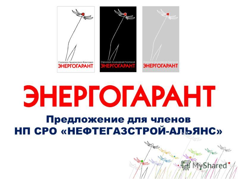 Предложение для членов НП СРО «НЕФТЕГАЗСТРОЙ-АЛЬЯНС»