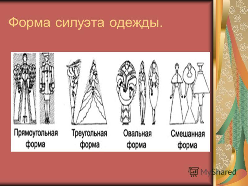Форма силуэта одежды.