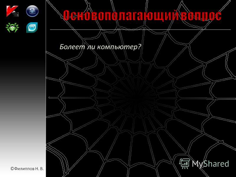 Болеет ли компьютер? ©Филиппов Н. В.