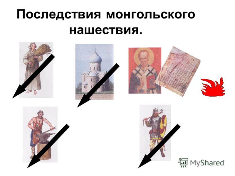 Последствия монгольского нашествия.