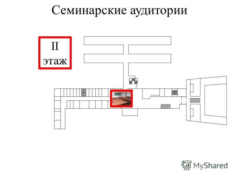 Семинарские аудитории II этаж