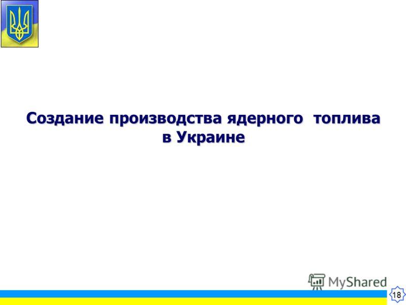 18 Создание производства ядерного топлива в Украине
