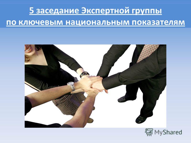 5 заседание Экспертной группы по ключевым национальным показателям