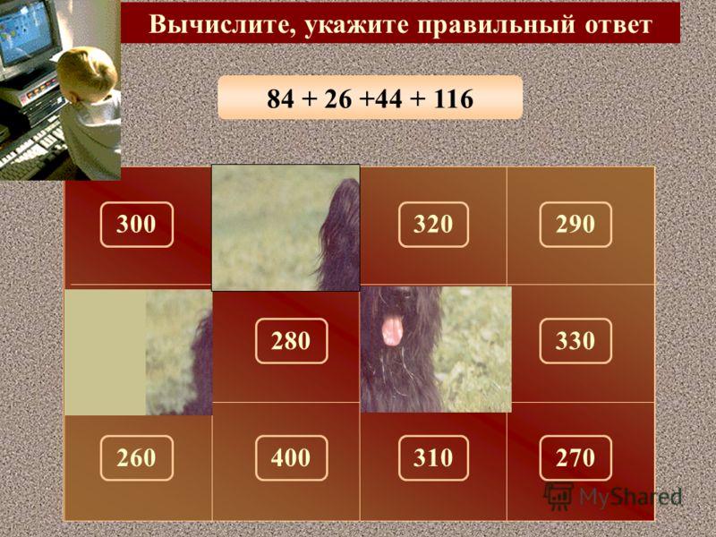 33 + 28 + 17 + 22 Вычислите, укажите правильный ответ 100 150 300320290 180330280 260310270400