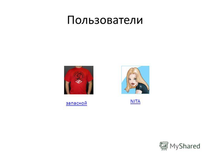 Пользователи запасной NITA