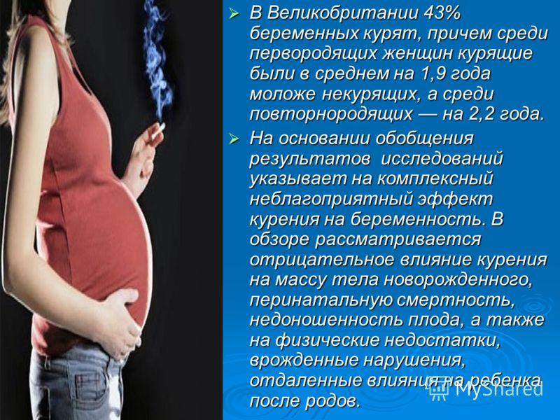 Курение беременных женщин.